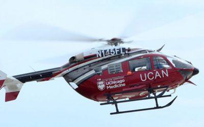 New medical helicopter arrives at UChicago Medicine